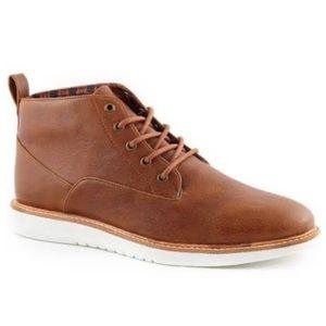 Ben Sherman Brown Vegan Leather Lace Shoes